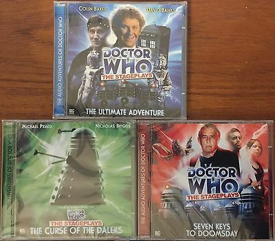 Doctor Who Big Finish The Stageplays 3x Audio Plays NEW