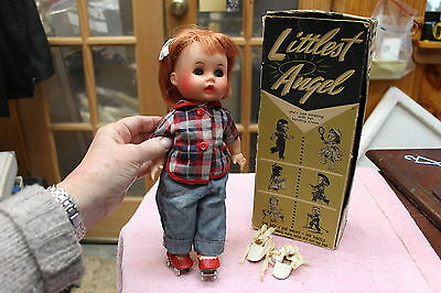 Vintage 1950's R & B Littlest Angel Doll And Original Box Some Outfits Good
