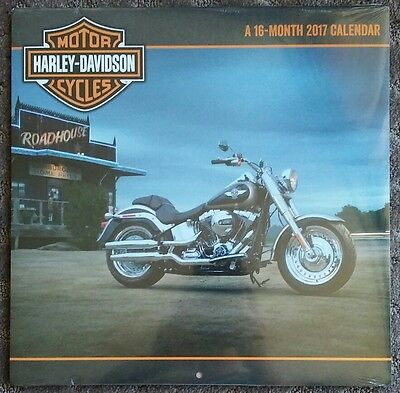 Harley Davidson Motorcycles - NEW 2017 - 16-Month Wall Calendar