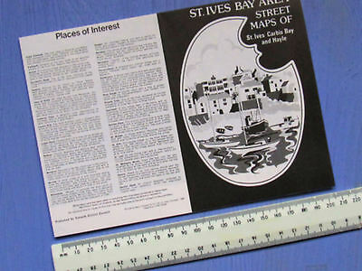 St. Ives Area Street Maps Of St Ives, Carbis Bay And Hayle From 1984 42 X 30 Cm