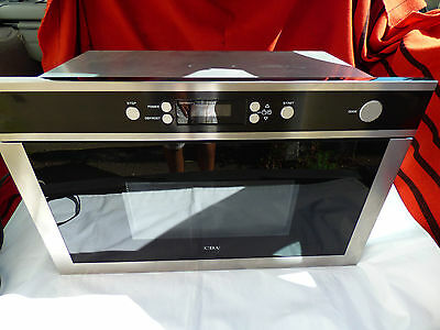 CDA MC61SS Built In Kitchen Microwave Oven 382 x 594 x 340 Black & Silver Used