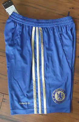 Official Retro Chelsea Shorts Home Adidas mens shorts blue  42 & 44 inches XL