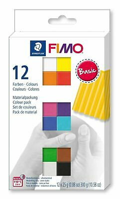 FIMO Soft Polymer Clay 12 x 25g Half Blocks Starter Set Fun Kids Modelling