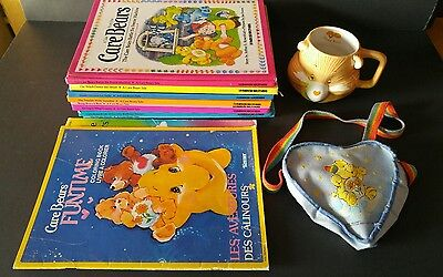 Vintage Care Bears HC Books Parker Brothers Tale Purse Coloring Mug Collectibles