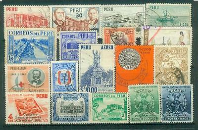 Lot Briefmarken aus Peru
