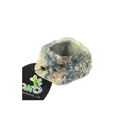 Various Reptile Bowl Rock Food Water Dish Bearded Dragon Gecko Meal Worm Feeder