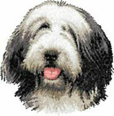 Bearded Collie Head Portrait embroidery patch