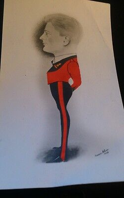 Caricature of military officer by amies milner 1948
