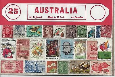 Packet of 25 Australia Stamps All Different