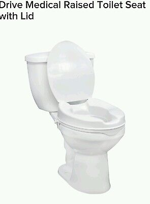 Raised Toilet Seat With Lid 4inches Drive Medical