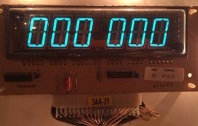 Gottlieb System 1 & System 80 6-digit score display board, tested & working