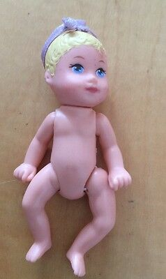 Barbie Kelly Krissy Friends Baby Nude Articulated Baby Girl Doll Blonde Hair