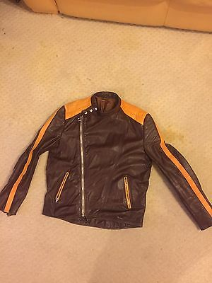 Biker Leather Jacket Retro '70's