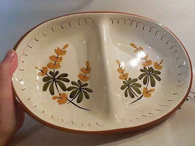 """Stangl """"Golden Blossoms"""" Divided Serving Dish made in Trenton, NJ USA"""