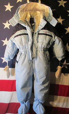 zeroxposur  toddler hooded snow suit  24months  blue   same day shipping