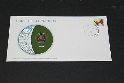 Guyana Coins Of All Nations 1979 25 Cent Coin Unc