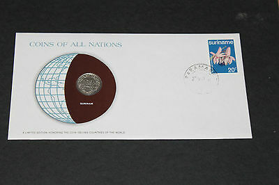 Surinam Coins Of All Nations 1976 25 Cent Coin Unc