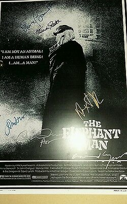 Script Screenplay The Elephant Man John Hurt   Printed Signed Cover
