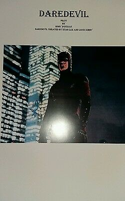 Script Screenplay Daredevil Charlie Cox   Pilot   Printed Signed Cover Marvel