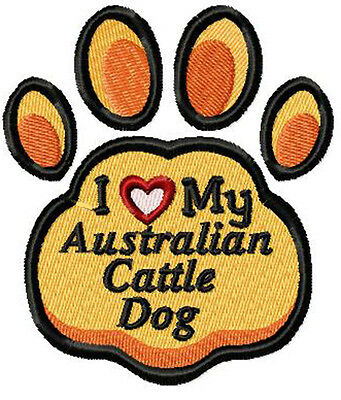 Australian Cattle Dog  Paw Embroidery Patch