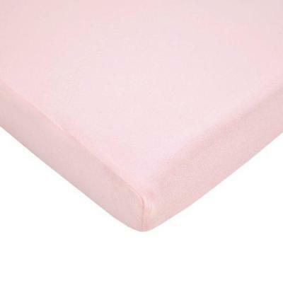 TL Care 100% Cotton Value Jersey Knit Fitted Portable/Mini-Crib Sheet, Pink New