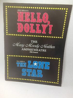 Mary Moody Northern Amphitheatre 1984 Show Program of Hello, Dolly!