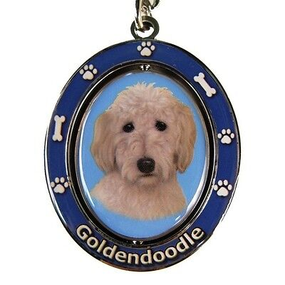 Goldendoodle Dog Spinning Key Chain Fob