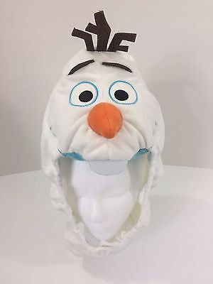 Disney FROZEN Olaf Costume Winter Hat One Size Youth Adult Plush