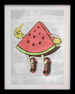 Watermelon Man Pop Art A3 Street Wall Poster Print - Limited Edition Of 100
