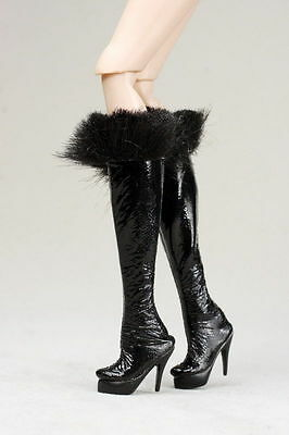 BARBIE FR Black Fashion Boots/shoes with hair