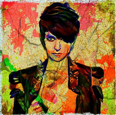 Nena Punk Pop Art 100 x 100 cm Kunstdruck/Bild/Malerei/Print/Pop Art