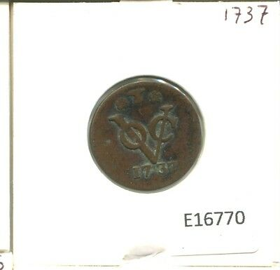 1737 West Friesland Voc Duit Netherlands Indies New York Colonial Penny E16770.7