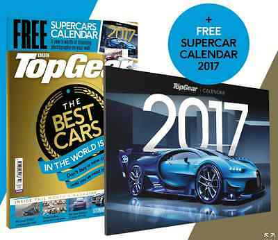BBC Top Gear Magazine The Best Cars in the World + Free Supercar Calendar 2017