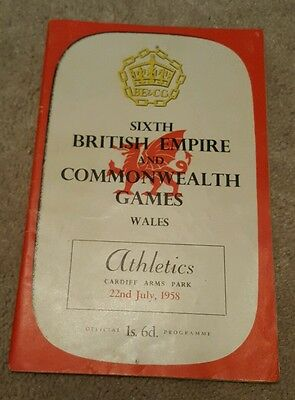 British empire and commonwealth games 1958 programme