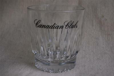 Canadian Club Classic Whiskey Speared Design Base Heavy Rocks Glass