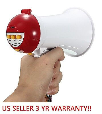 Mini Megaphone Portable Handheld Foldable 5W Speaker Bullhorn Voice Amplifier