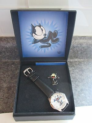 Vintage Fossil Felix The Cat Ltd Ed Watch Nip #420/500 Works! Unworn Very Rare!