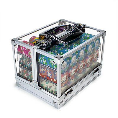 New 600 Monaco Club 13.5g Clay Poker Chips Set with Acrylic Case - Pick Chips!