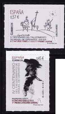 2016 Spain 400 Years Cervantes Death - Drawing Competition Winners MNH