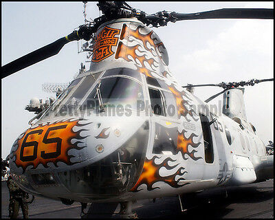 USN H-46 Sea Knight HC-11 USS Constellation CV-64 2003 8x10 Photo