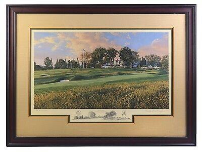 Linda Hartough 14th Hole Oakmont Country Club Golf Print #716 of 850 US Open