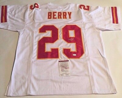 Eric Berry Autographed Kansas City Chiefs White Jersey JSA Witnessed COA