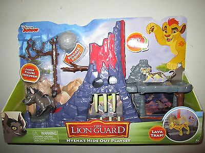 The Lion Guard Hyena's Hide Out Playset VERY RARE NIB Includes Janja
