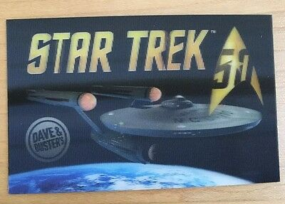 Limited Edition Star Trek 50th Anniversary Lenticular Card Dave & Buster
