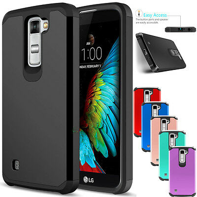 For LG K10 /Premier LTE Case Slim Hybrid Rugged Armor Dual Layer Phone Cover