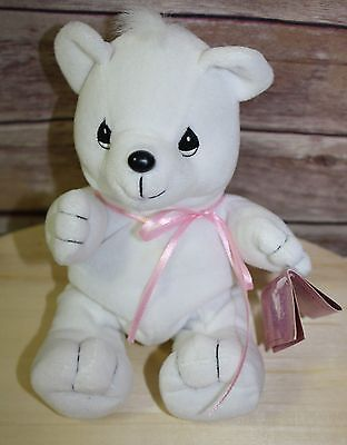 ENESECO PRECIOUS MOMENTS TENDER TAILS WHITE PLUSH TOY Polar BEAR WITH TAG 1998