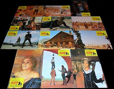 1968 Once Upon a Time in the West ORIGINAL SPAIN RR LOBBY CARD SET Sergio Leone