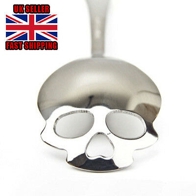 Skull Sugar Spoon Stainless Steel Tea Coffee Food Dessert Cutlery Teaspoon Gift