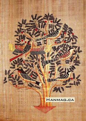 Egyptian Papyrus Painting Poster + Tree of Life + 16X24 Inches + Handmade #92