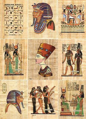 "50 Egyptian Papyrus Paintings 4X6"" + Over 100 Assorted Scenes + Hand Painted"